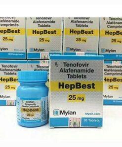 Thuốc Hepbest 25mg Tenofvir Alafenamide điều trị nhiễm HIV và nhiễm virus viêm gan B mạn tính (HBV) (2)